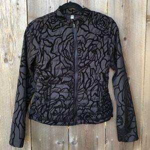 Fabletics Floral Velvet Puffer Jacket